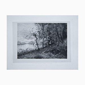 Ernesto Rayper, Dora Riparia At Alpignano, Etching, Late 19th Century