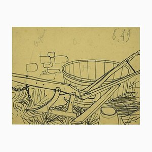Unknown, The Plough, Pen Drawing, Mid-20th Century