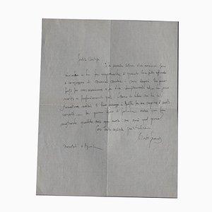 Alberto Gerardi, Letter of Thanks, 1930s