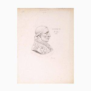 Achille Devéria, Innocem V, Bleistift, 19. Jahrhundert