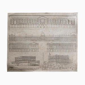 Inconnu, Architecture, Gravure à l'Eau-Forte, 19ème Siècle