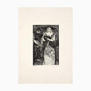 Guelfo Bianchini, Figuren 3, Radierung, 1959