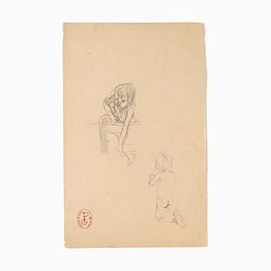 Unknown, Studies of Children, Pencil Drawing, Early 20th Century