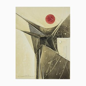 René Lubarow, Ever Taken Alto Cover, Etching, 1978