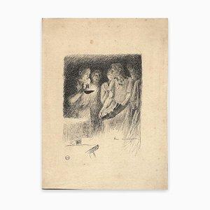 Auguste François-Marie Gorguet, Figures, Pen Drawing, Early 20th Century
