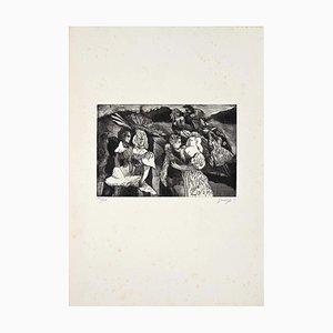 Guelfo Bianchini, Figuren 2, Radierung, 1959