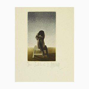 Inconnu - Solitude - Gravure Originale - Fin 20ème Siècle