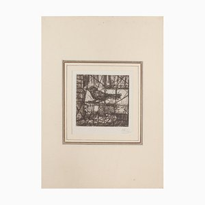 Miguel Angel Ibarz, The Bird, Etching, Mid-20th Century