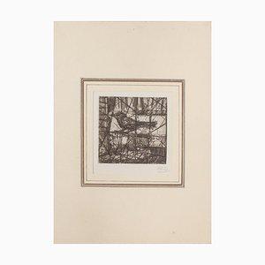 Miguel Angel Ibarz, The Bird, Radierung, Mitte 20. Jahrhundert