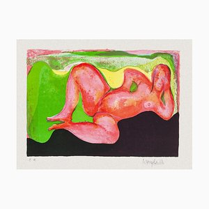 Unknown - Reclined Nude - Original Lithograph - Mid-20th Century
