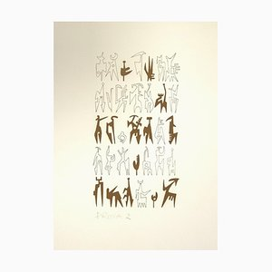 Leo Guida, Signs, Lithografie, 1970er