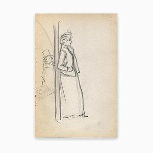 George Auriol, Elegant Profile, Drawing, 1890s