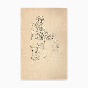 George Auriol, Merchant of Four Seasons, Drawing, 1890s