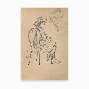 George Auriol, Man With Seated Hat, Drawing, 1890s