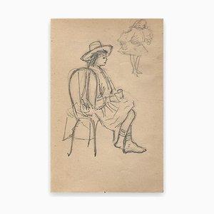 George Auriol, Mann mit Hut, Zeichnung, 1890er