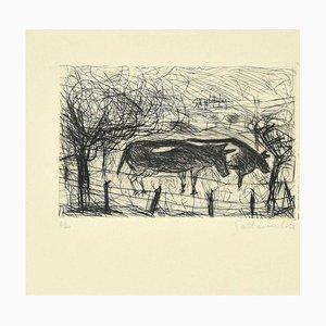 Nazareno Gattamelata, Landschaft, Radierung, spätes 20. Jahrhundert