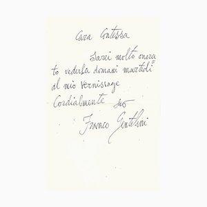 Franco Gentilini, Einladungsbuchstabe, 1950er