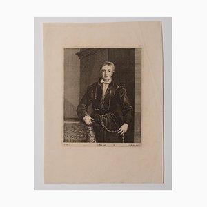 Claudin Felix, Portrait, Etching, 19th Century