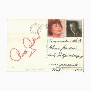 Carte Postale Autographiée d'Ava Gardner - 1985