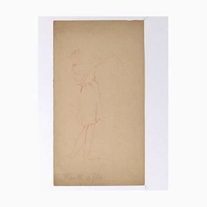 Henri Lucien Detouche, Figure, Drawing, 19th Century
