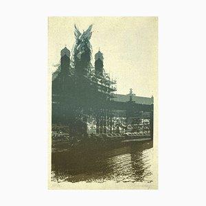 Imprimé, Paysage Urbain, Sérigraphie, 20ème Siècle