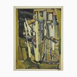 Henri Deschamps, Komposition, Lithographie, Mitte des 20. Jahrhunderts