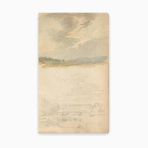 Louis-Charles Willaume, Landscape, Watercolor / Graphite, Early 20th Century