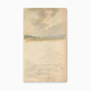Louis-Charles Willaume, Landschaft, Aquarell / Graphit, Frühes 20. Jahrhundert