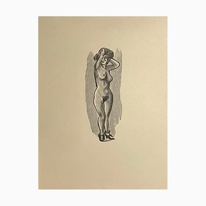 Mino Maccari, Akt der Frau, Zinkographie, 1950er