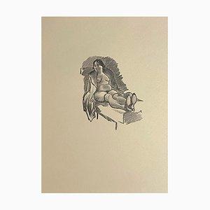 Mino Maccari, Nudo di donna, Zincograph, anni '50