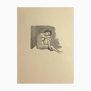 Mino Maccari, Nudo di donna, Zincography, anni '50