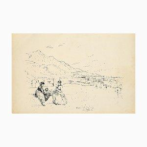 Pio Joris - Forio Di Ischia - Lithografie - 1870er