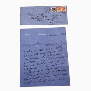 Tommaso Buzzi, Thank You Letter, 1957
