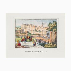 Unknown, Gate In Algeria, Lithograph, 1846
