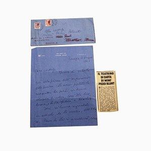 Brief von Tommaso Buzzi an die Gräfin Pecci Blunt - 1957