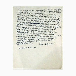 Renzo Vespignani, Cover Letter to Vespignani's Work, 1984