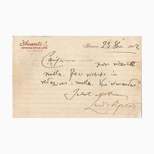 Leonida Bissolati - A Message to Ugo Ojetti - 1903