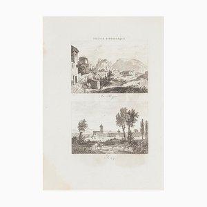Unknown - Landscape - Original Lithograph - 19. Jahrhundert