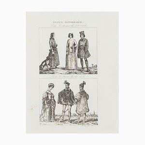 Unknown - Paris Costumes - Original Lithograph - 19th Century