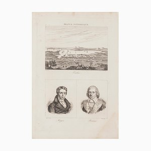 Portraits and Landscape - Lithograph - 19th-Century