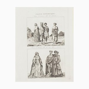 Unknown, Paris Costume, Lithograph, 19th Century