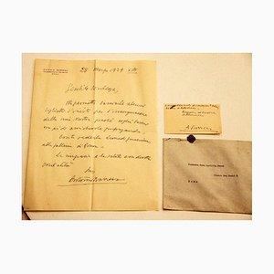 Antonio Barrera, Buchstabe mit Visitenkarte, Mitte 20. Jahrhundert