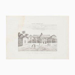 Unknown - St. Denis Le Bourbon - Hotel du Gouvernement- Original Lithograph - 19th Century