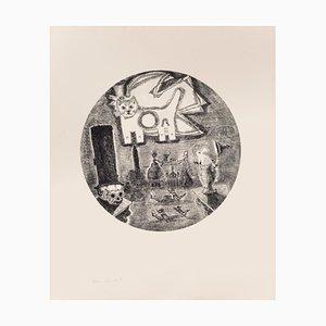 Gian Paolo Berto - The Cat - Aguafuerte sobre papel - años 70