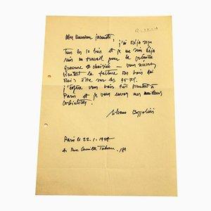 Silvano Bozzolini, Letter from Silvano Bozzolini to Jacometti Nesto, 1958