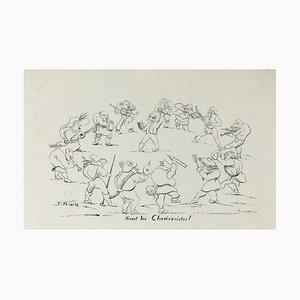 Unknown - Vivent les Charivaristes - Originale Lithographie - Frühes 20. Jahrhundert