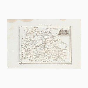 Sconosciuto - Mappa di Puy De Dome - Incisione originale - XIX secolo