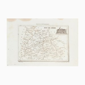 Unknown - Map of Puy De Dome - Original Etching - 19th Century