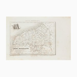 Mapa de Seine - Aguafuerte, siglo XIX