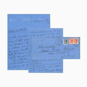 Tommaso Buzzi - Letter to the Countess Pecci Blunt - 1957
